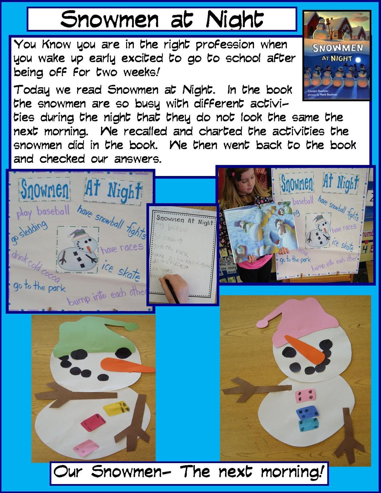 Golden Gang Kindergarten Snowmen At Night