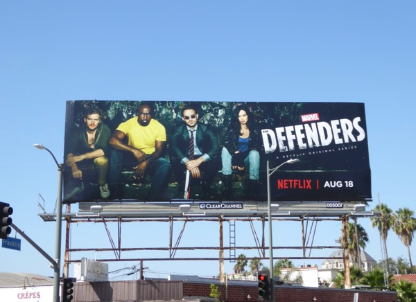 Marvel Defenders series billboard