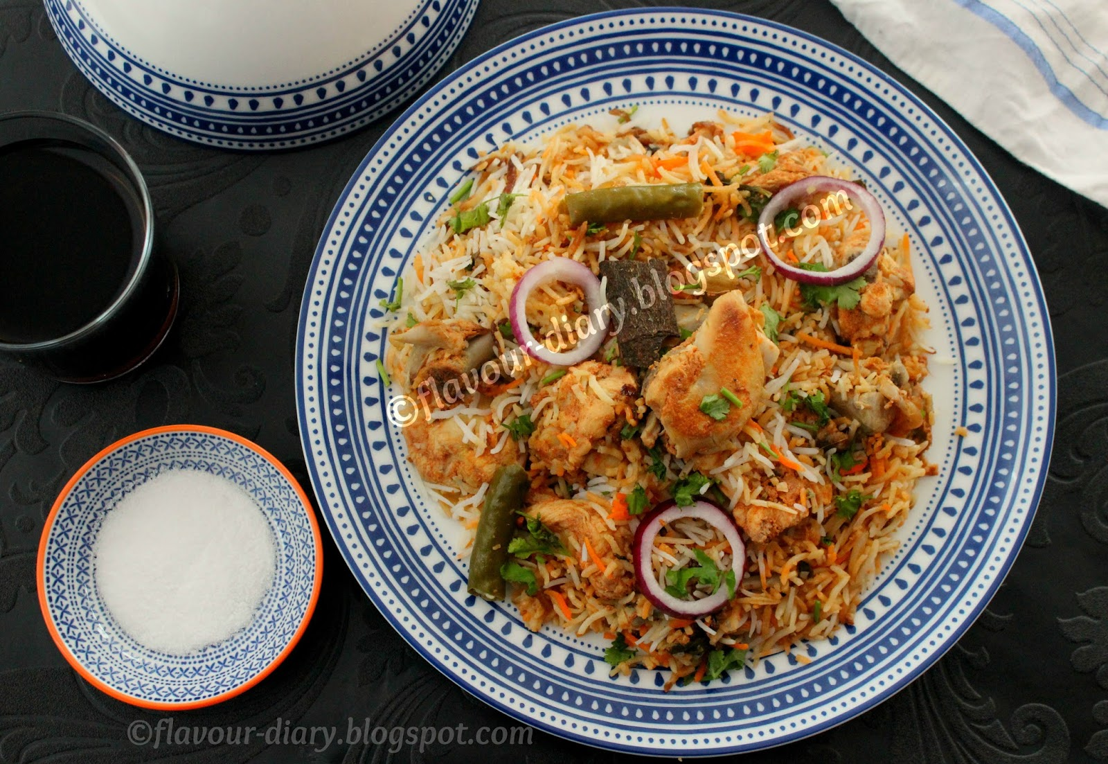 Hyderabadi chicken kachi yakhni dum Biryani