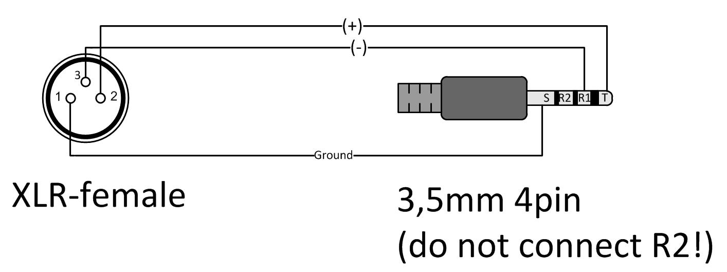 3 pin mini xlr wiring diagram