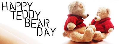 Cute Happy Teddy Bear Day 2017 Facebook Cover Photos Pics