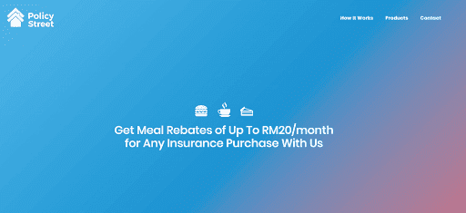 Get Meal Rebates of Up To RM20 month from PolicyStreet