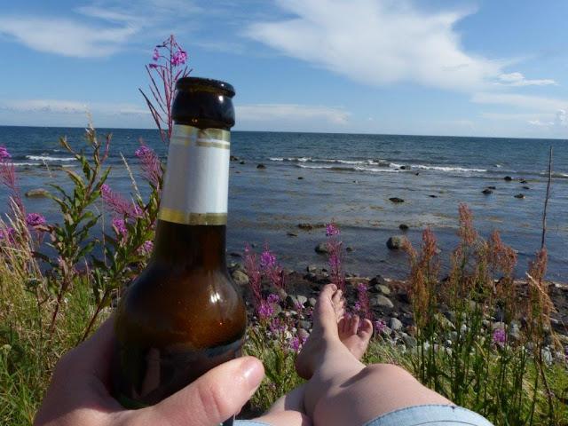 Schweden Urlaub Anreise Camping Urlaub mit Hund Ystad Meer Küste Bier Entspannung