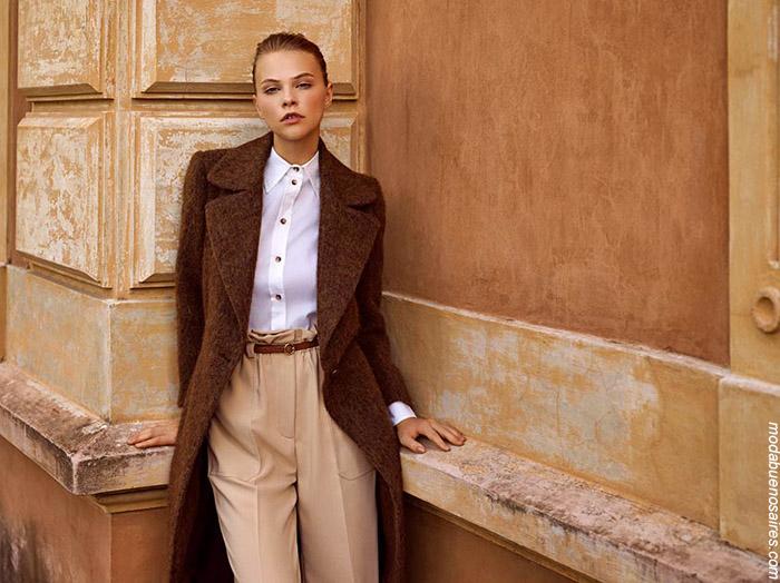 Tapados 2019. Looks invierno 2019 moda mujer.