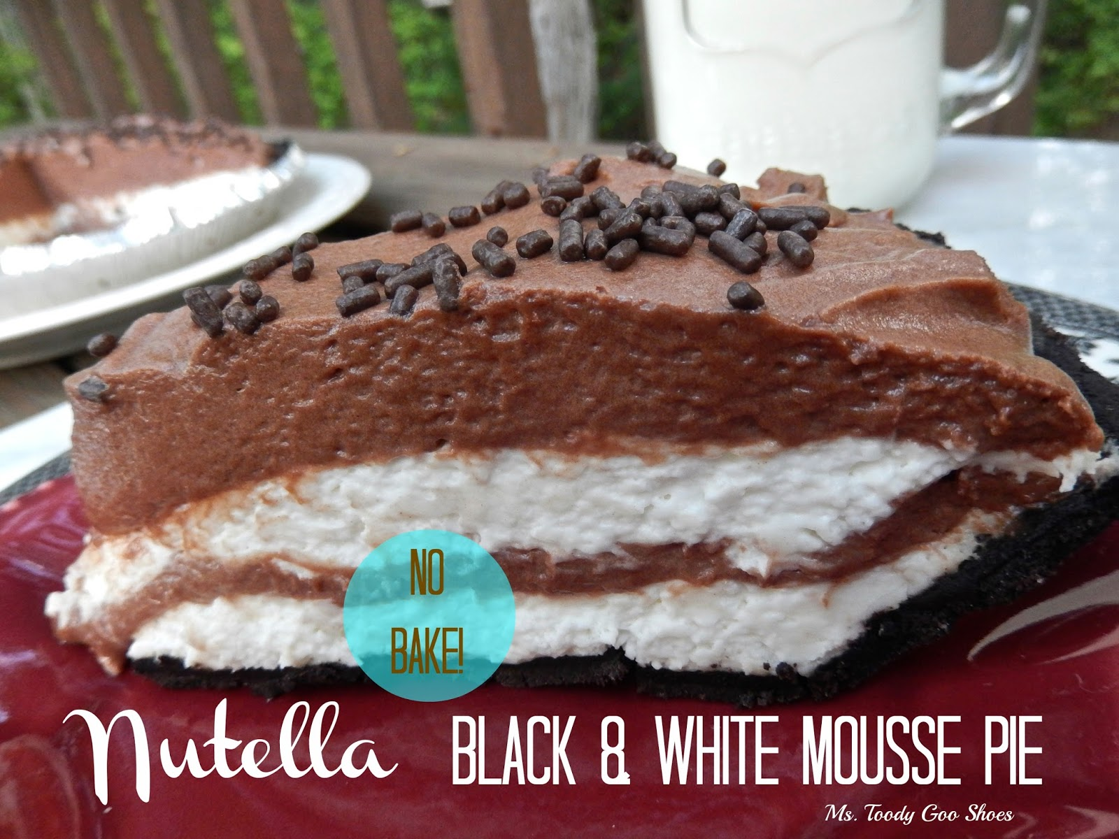 Nutella Black and White Mousse Pie -One of my top five dessert recipes of 2014