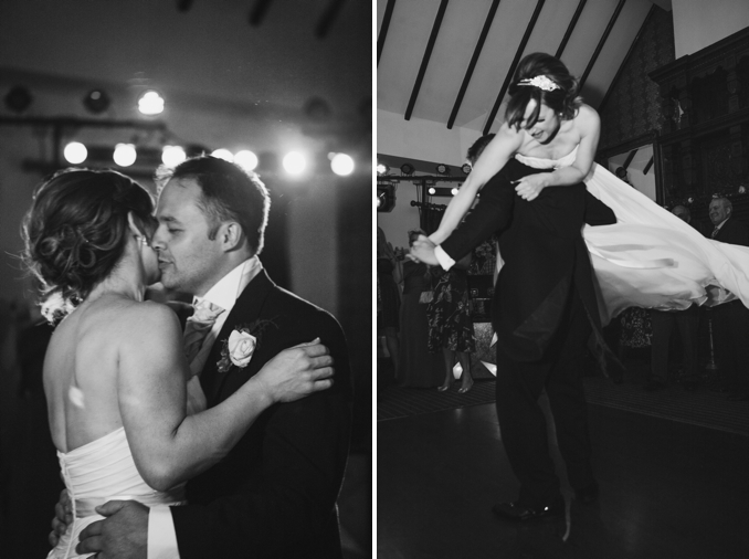 Fun black and white wedding party photos by STUDIO 1208
