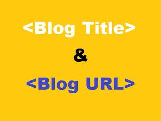 Cara Membuat Judul dan URL Blog