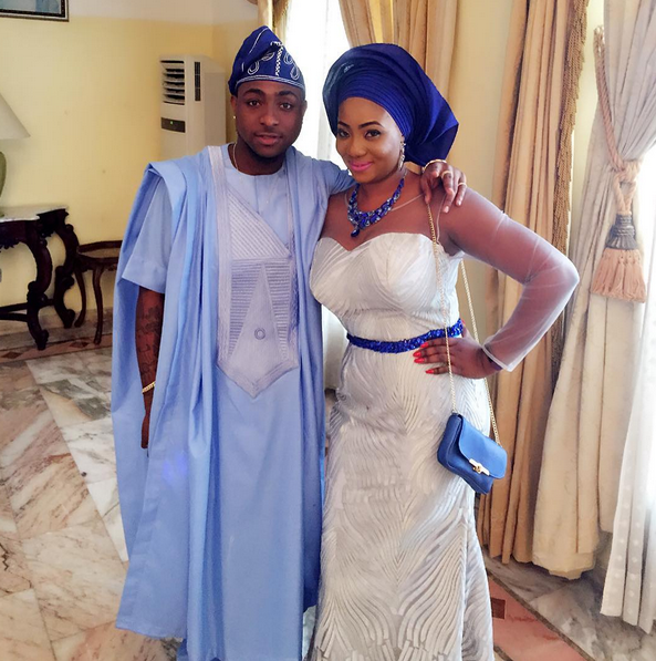 davido's sister ashley wedding pictures