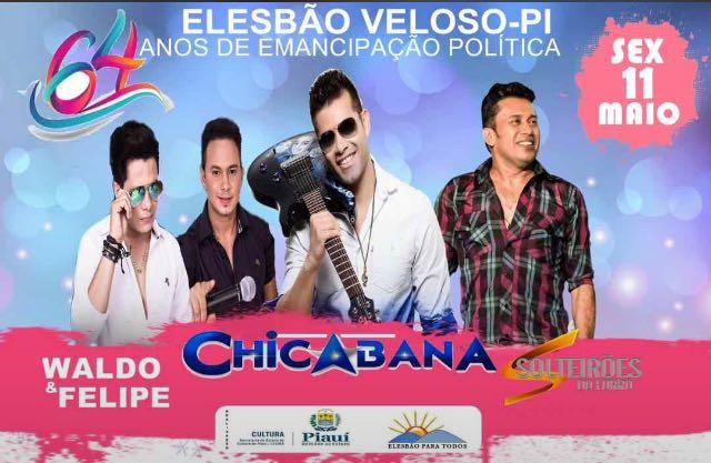 Prefeitura em parceria com o governo do estado divulga as bandas do aniversário de Elesbão Veloso