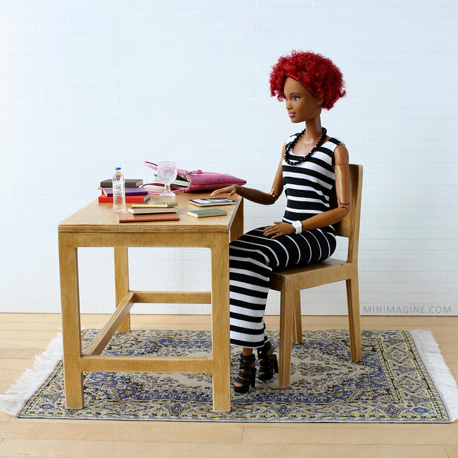doll furniture, playscale diorama