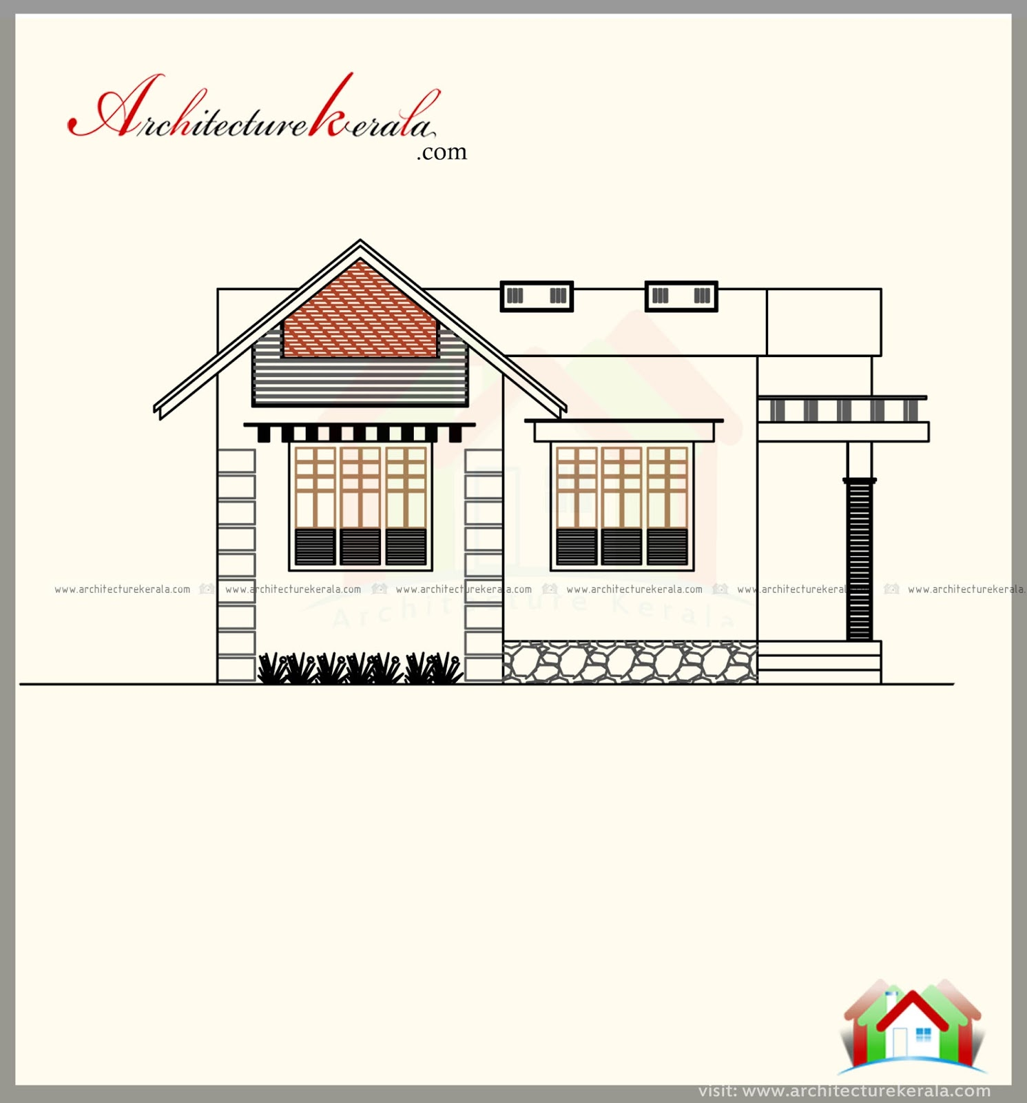 Elevation Mediterranean Architecture Style House Plans: 700 SQUARE FEET HOUSE PLAN WITH NEW DIFFERENT CONTEMPORARY