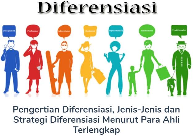 Membahas Materi Pengertian Diferensiasi Beserta Jenis-Jenis dan Strategi Diferensiasi Menurut Para Ahli Terlengkap