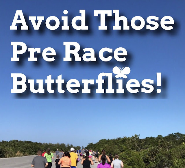 avoid pre before race butterflies nerves running virtual race run