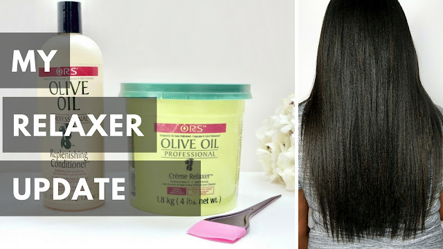 My Quick Relaxer Update with ORS Olive Oil Relaxer System!