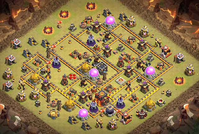 Excellent town hall 10 layout for war