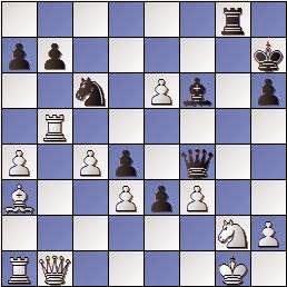 Partida de ajedrez Bordell vs. Polugaievsky 1956, posición después de 30…Df4