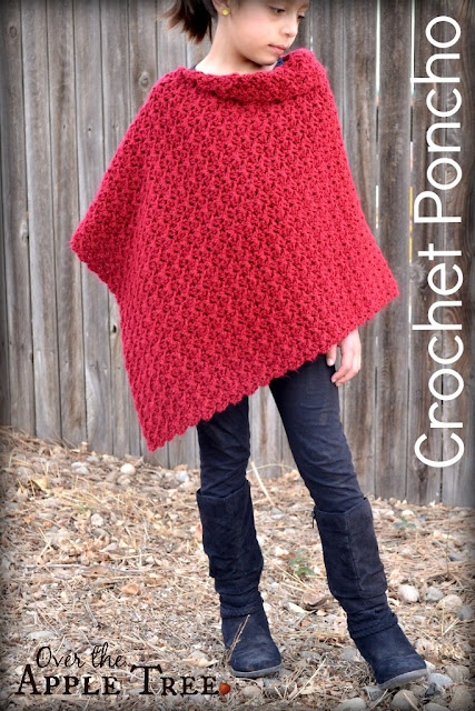 Girl's Poncho by Over The Apple Tree