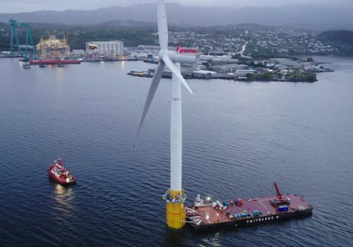 Tinuku.com Statoil builds the world's first floating wind power plant