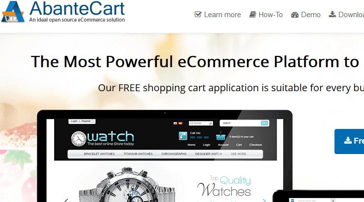 AbanteCart eCommerce software