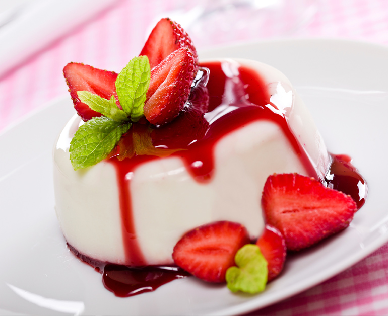 Resep Cara Membuat Panna Cotta Saus Strawberry Resepustaka
