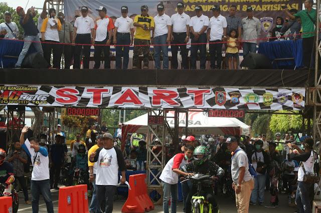 Kapolresta Banjarmasin Dragbike Championship Dibuka Gubernur Kalsel