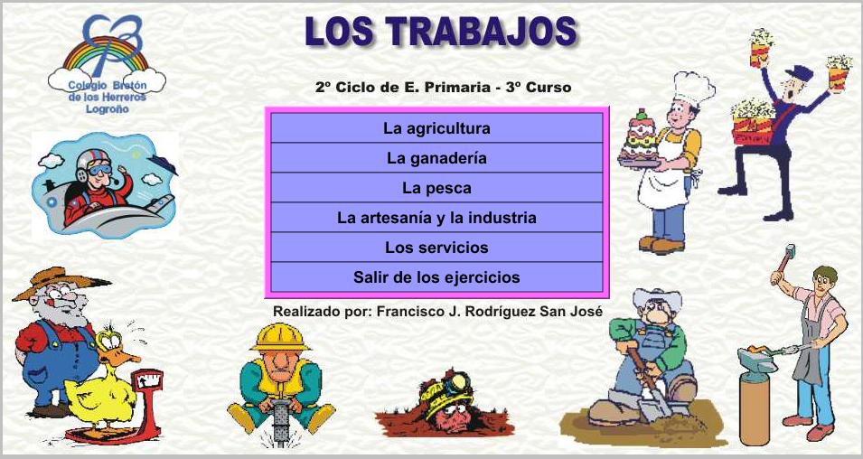 LA MINA . 3º de PRIMARIA: LOS TRABAJOS