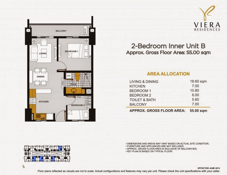Viera Residences 2 Bedroom Inner Unit-B