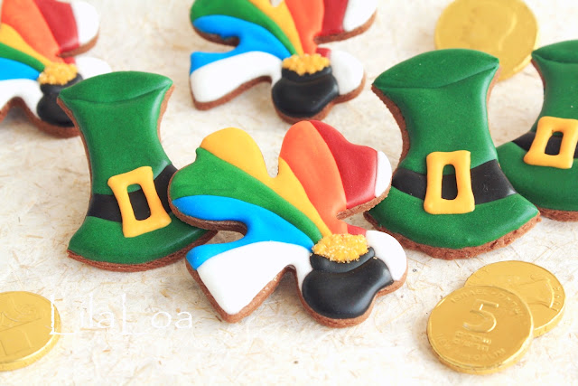 Cookie decorating tutorial -- rainbow shamrock