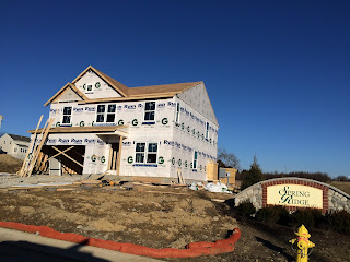 Ryan Homes Milan windows installed