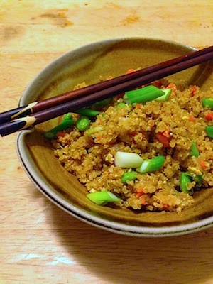 Fried Quinoa with Vegetables by Lori Buff