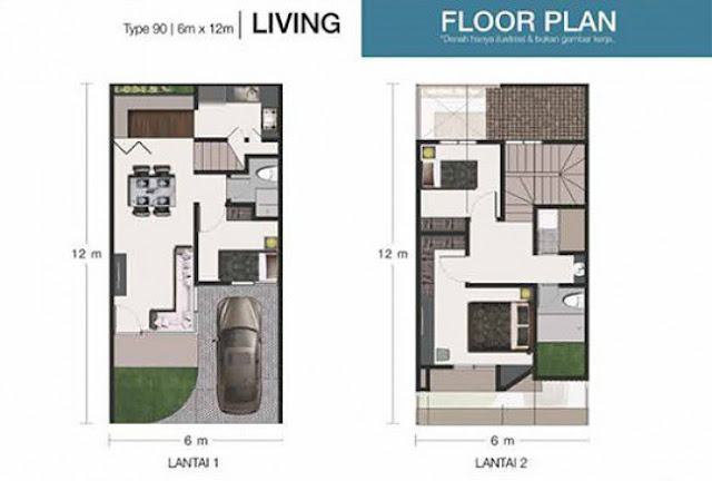 Floor Plan Tipe The Living Habitat Setiabudi Medan Sumatera Utara
