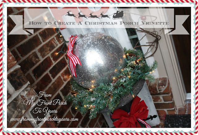 From My Front Porch To Yours -Christmas Front Porch-DIY- Bouncy-Ball-Ornament