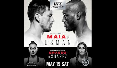 Ver UFC Fight Night 129: Maia vs Usman En vivo gratis 19 de Mayo online