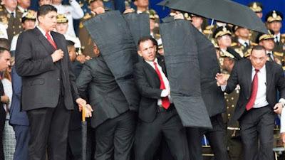 Seguranças protegem Maduro