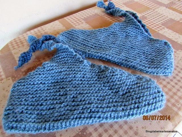 Meias em tricô e Lã