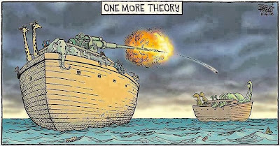 Funny Noah's Ark Cartoon Picture - One more theory