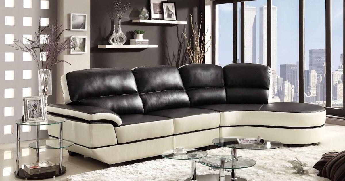 Leather And Fabric Sofa Set