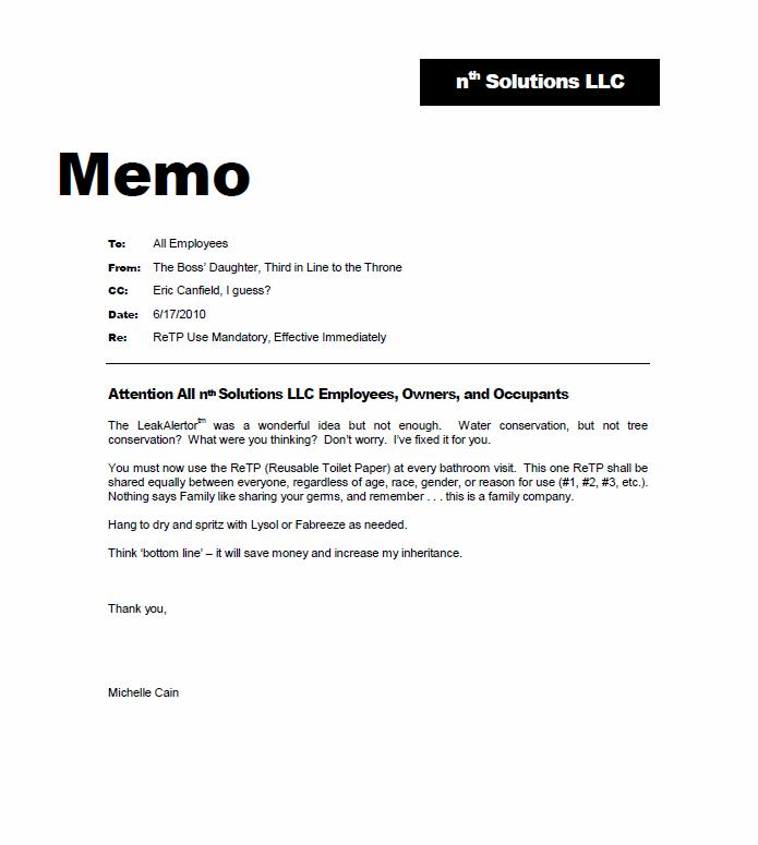memorandum for employees sample - Roho4senses - Sample Memos For Employees