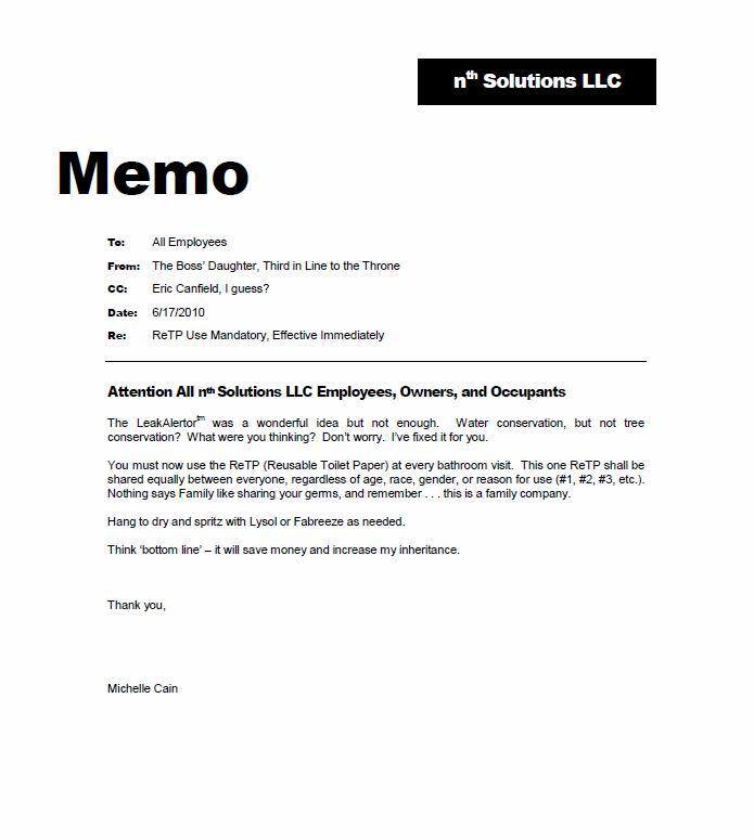 write a memo to employees