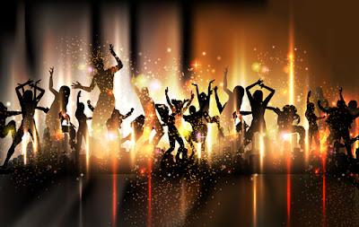 vectores de gente bailando en una fiesta