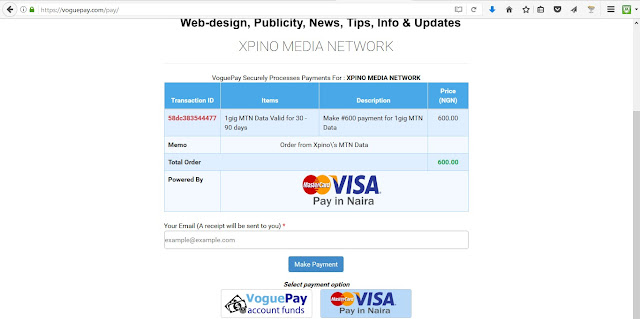 Xpino Media Stops Bank Payment Option For Data Purchases