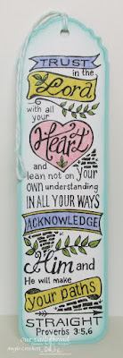 ODBD Your Heart, ODBD Custom Vintage Labels Dies, Bookmark Created by Angie Crockett