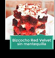BIZCOCHO RED VELVET SIN MANTEQUILLA