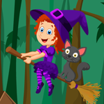Games4King Cute Witch Rescue Walkthrough