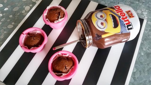 Ricetta Muffin al cioccolato con cuore di Nutella