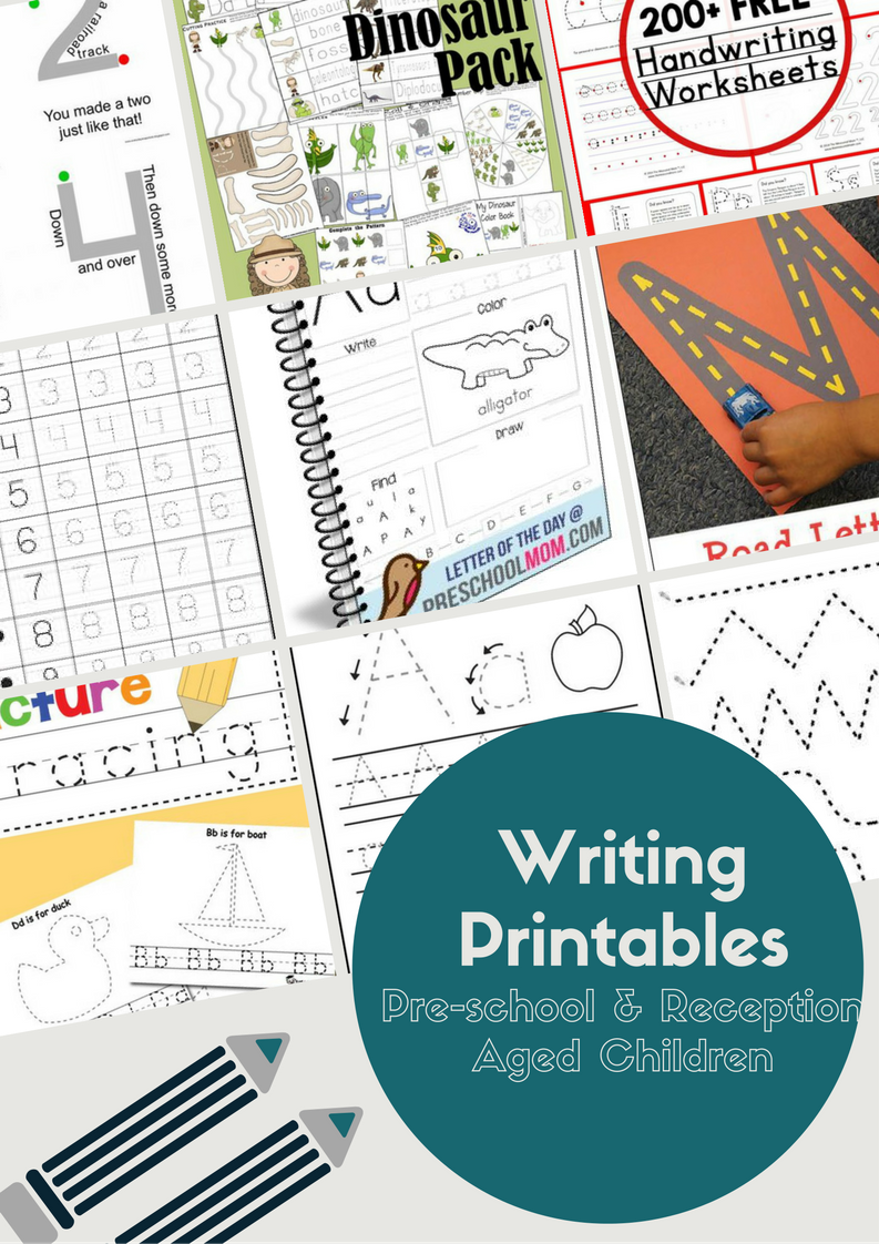 Ultimate Free Writing Printables for Pre-school/Reception Aged ...