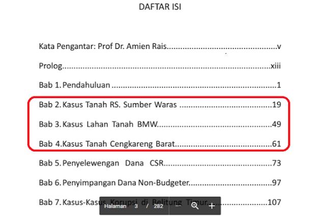 Buku Usut Tuntas Dugaan Korupsi Ahok ditulis oleh Marwan Batubara