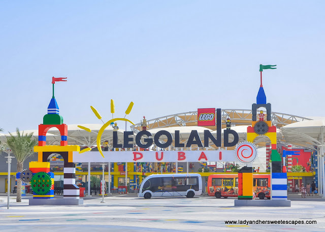 entrance to Legoland Dubai theme park and water park