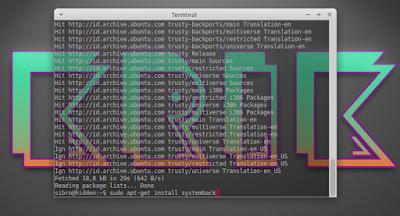 sudo apt-get install systemback