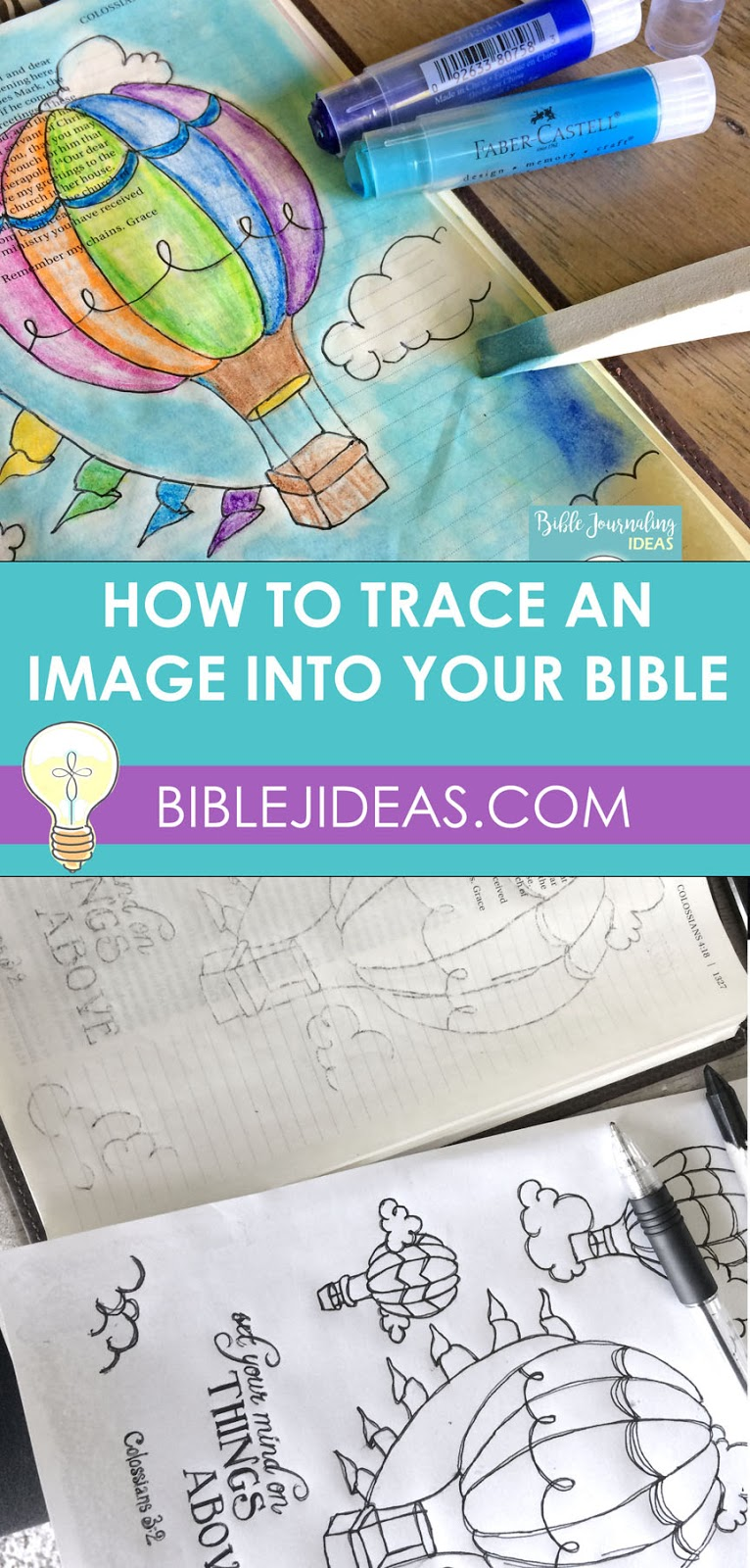 Bible Journaling Ideas: How To Trace An Image Into Your Bible